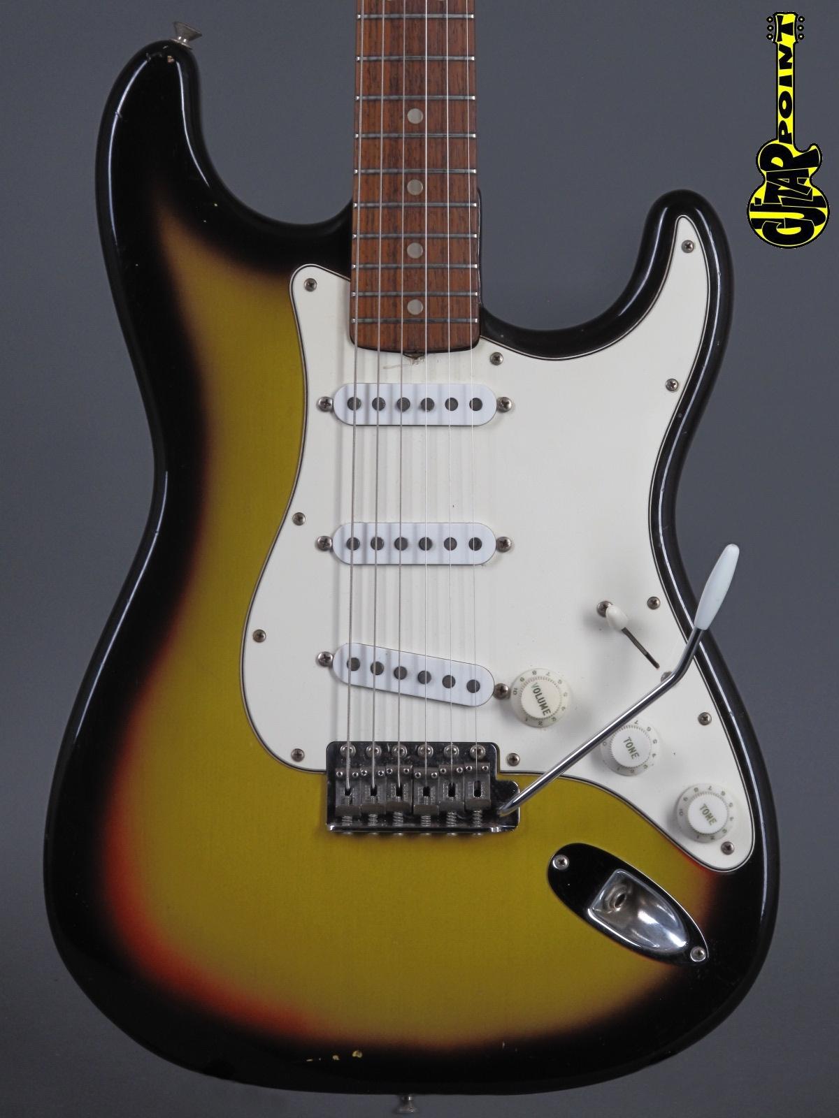 1966 Fender Stratocaster - 3t-Sunburst incl. orig. Tolex case