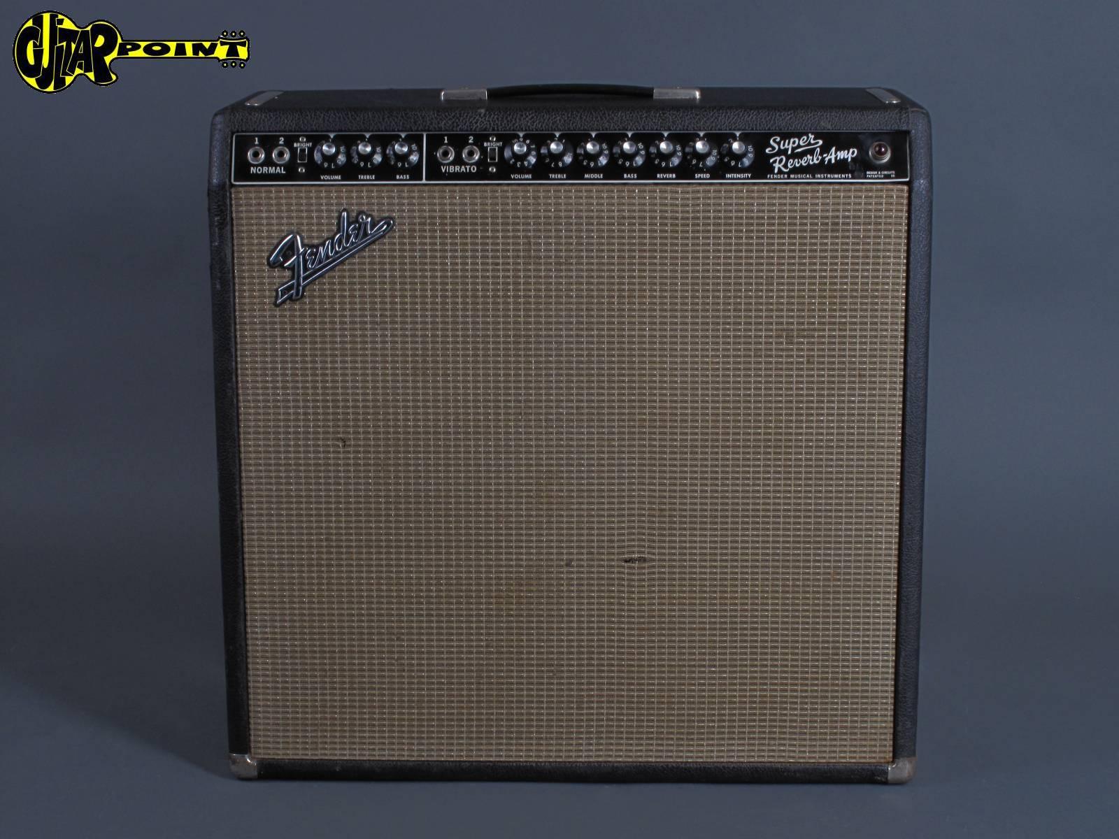 """1966 Fender Super Reverb 4x10"""" """"Blackface"""" Amp"""