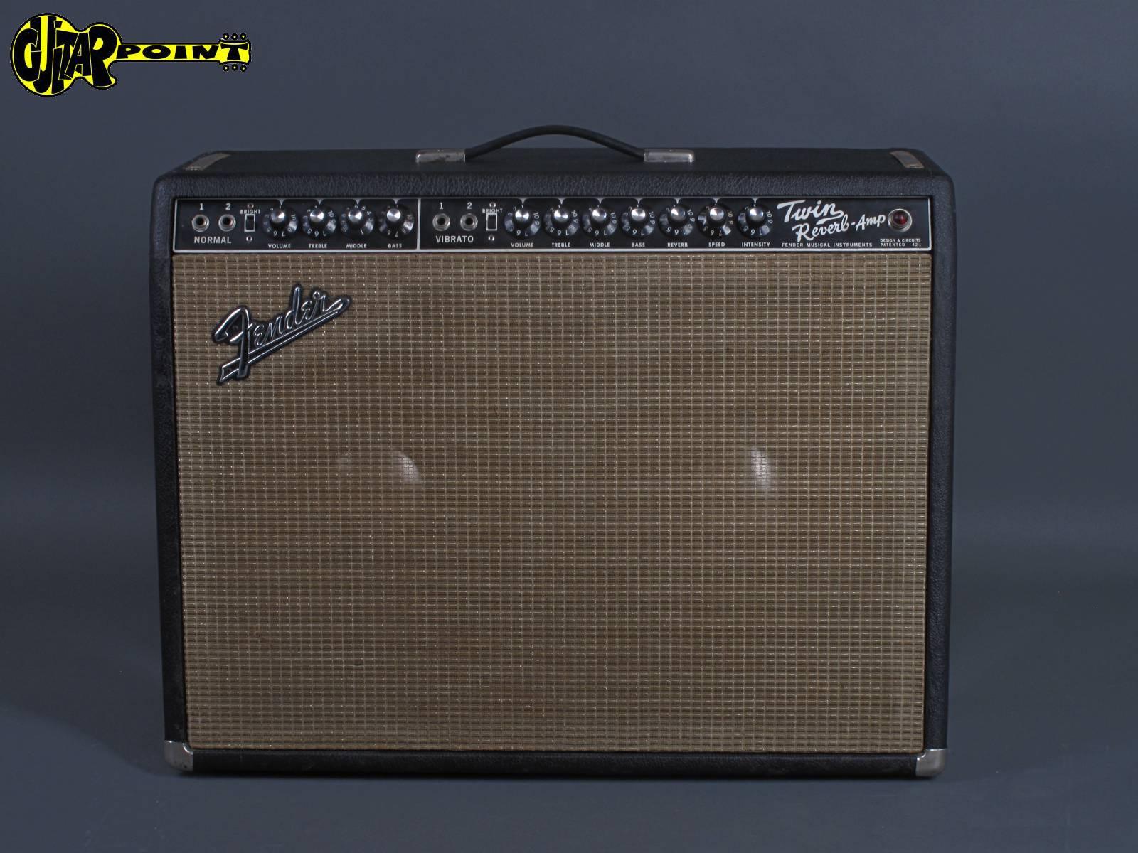 "1966 Fender Twin Reverb Amp ""Blackface - 2x12"" Jensens"