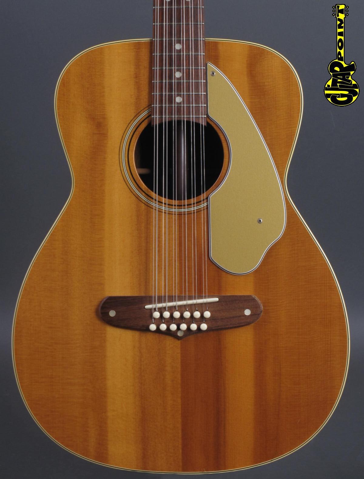 1966 Fender Villager 12-string Acoustic - Natural