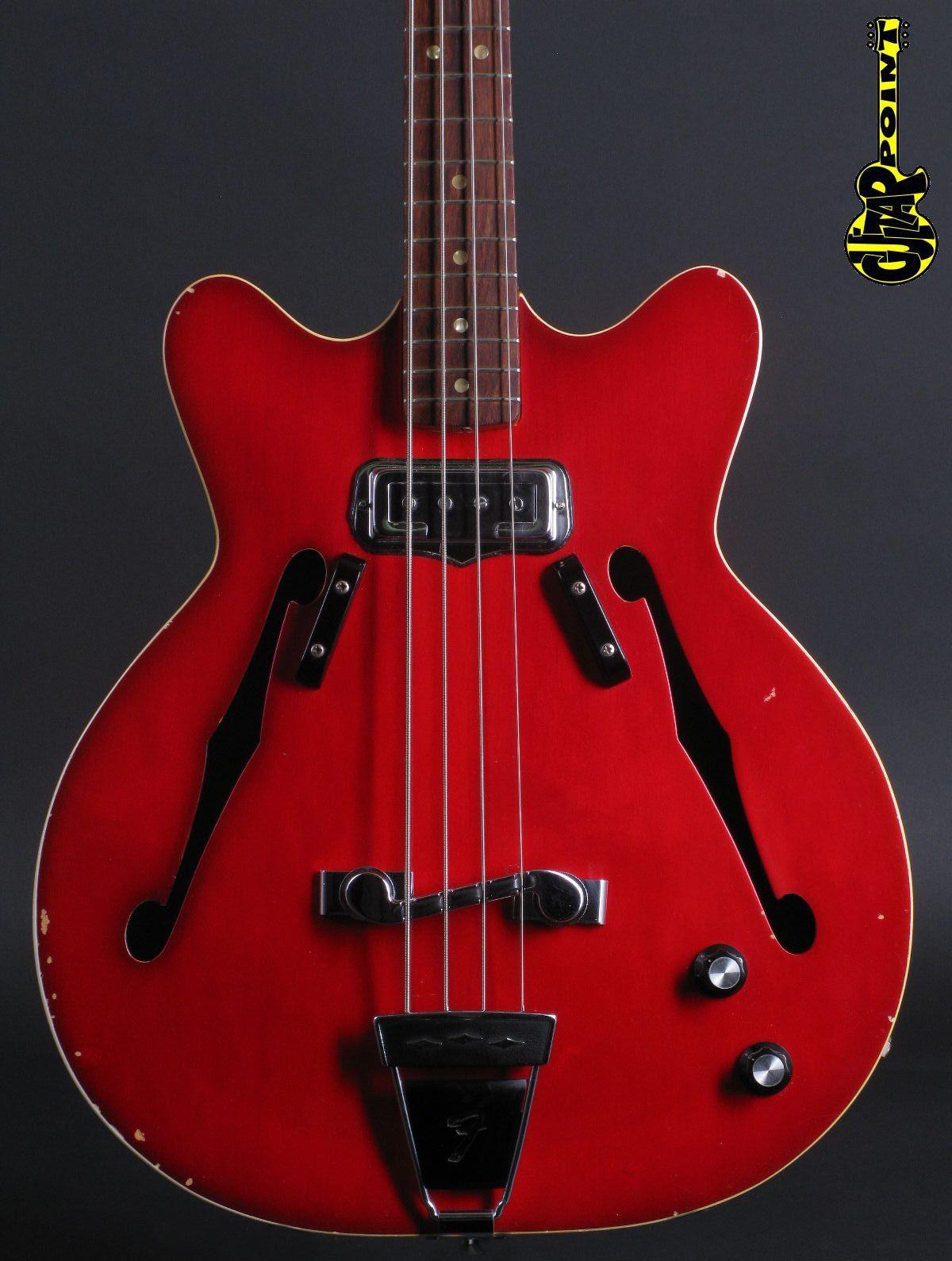 1967 Fender Coronado Bass - Candy Apple Red Burst