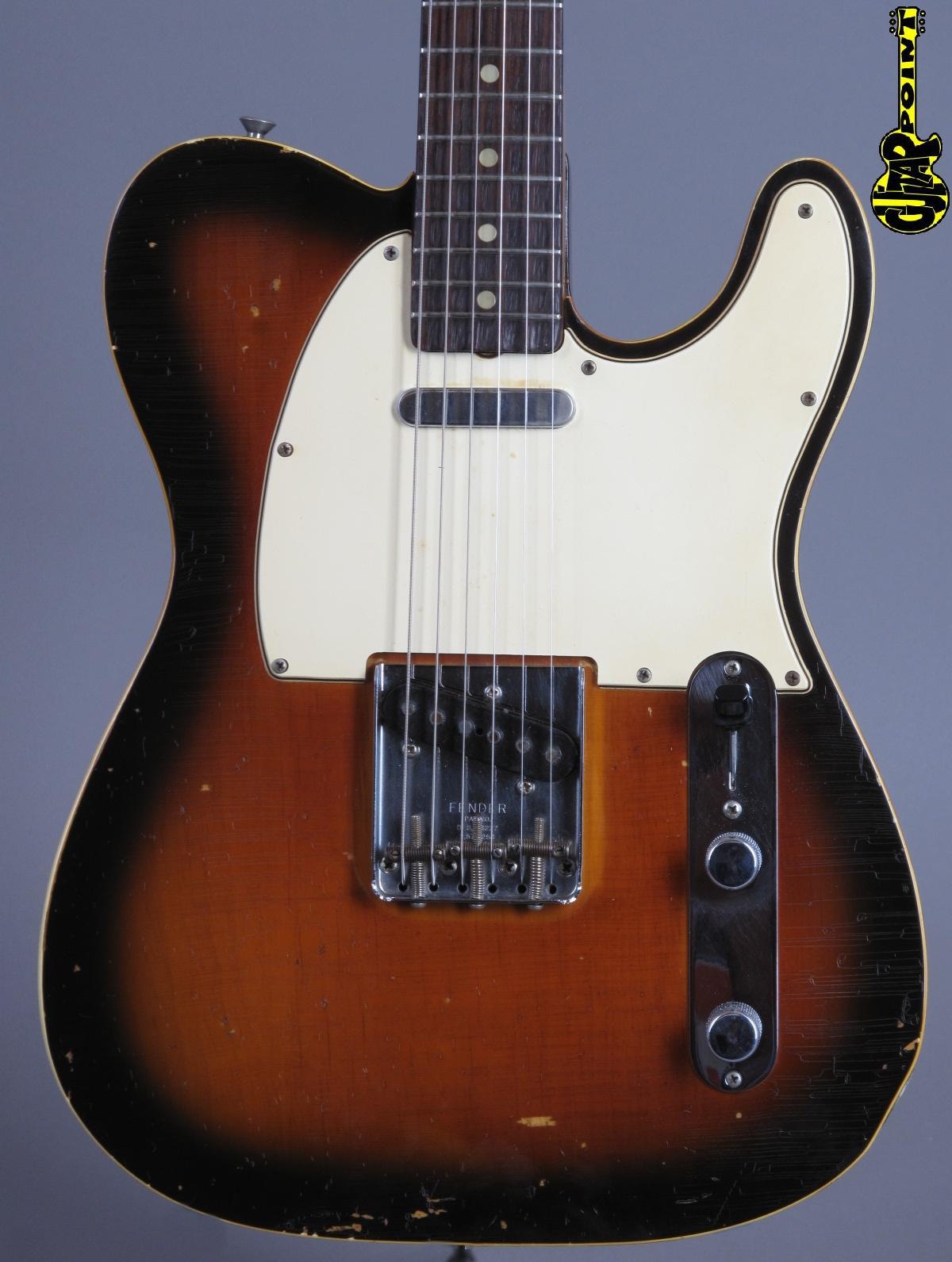 1967 Fender Telecaster Custom – 3-Tone Sunburst