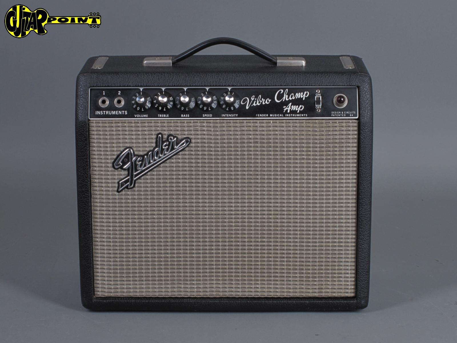 1967 Fender Vibro Champ Amp - Blackface    ...Mint !!
