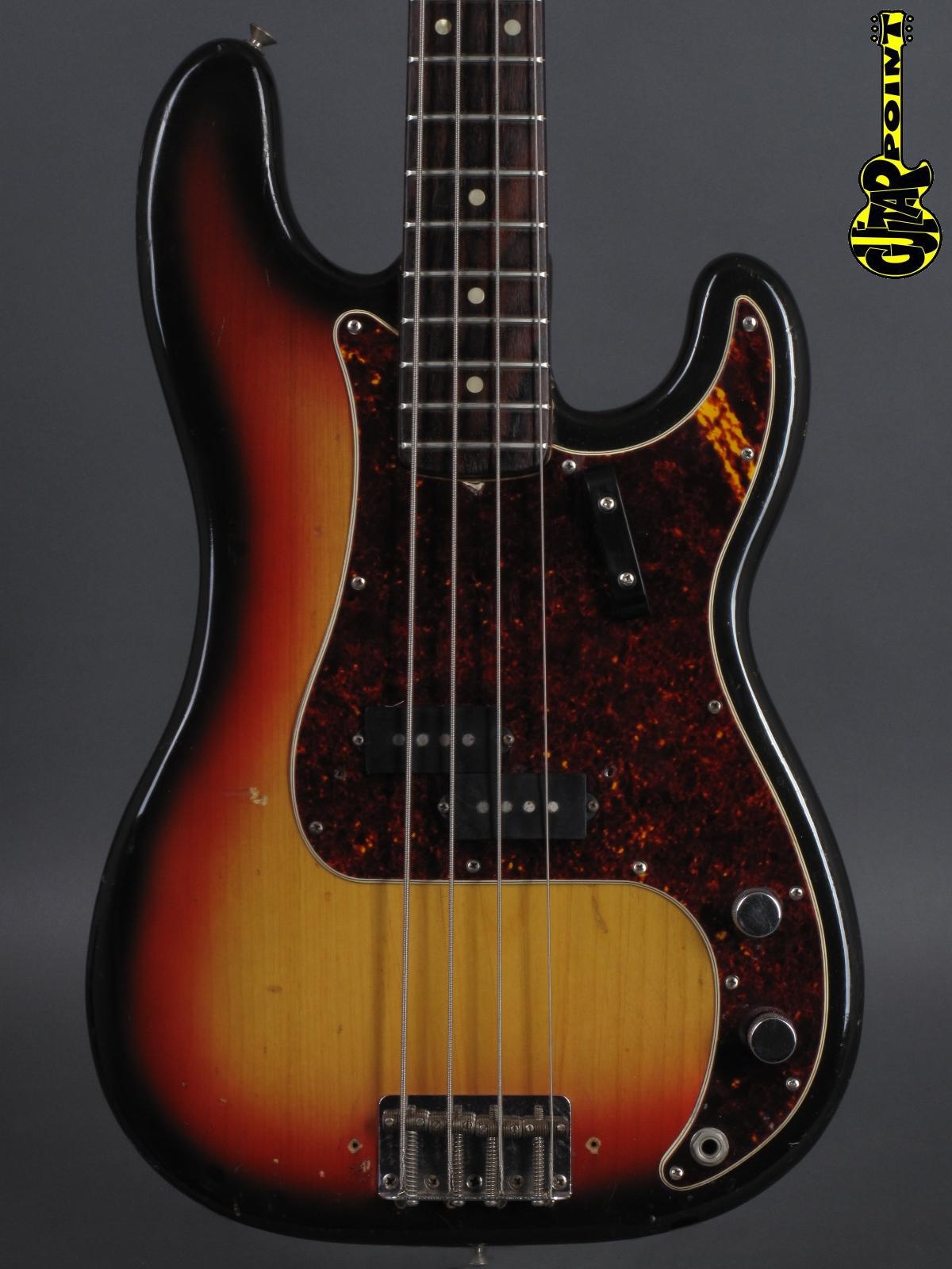 1968 Fender Precision Bass - 3t-Sunburst   ...only 3,81Kg !