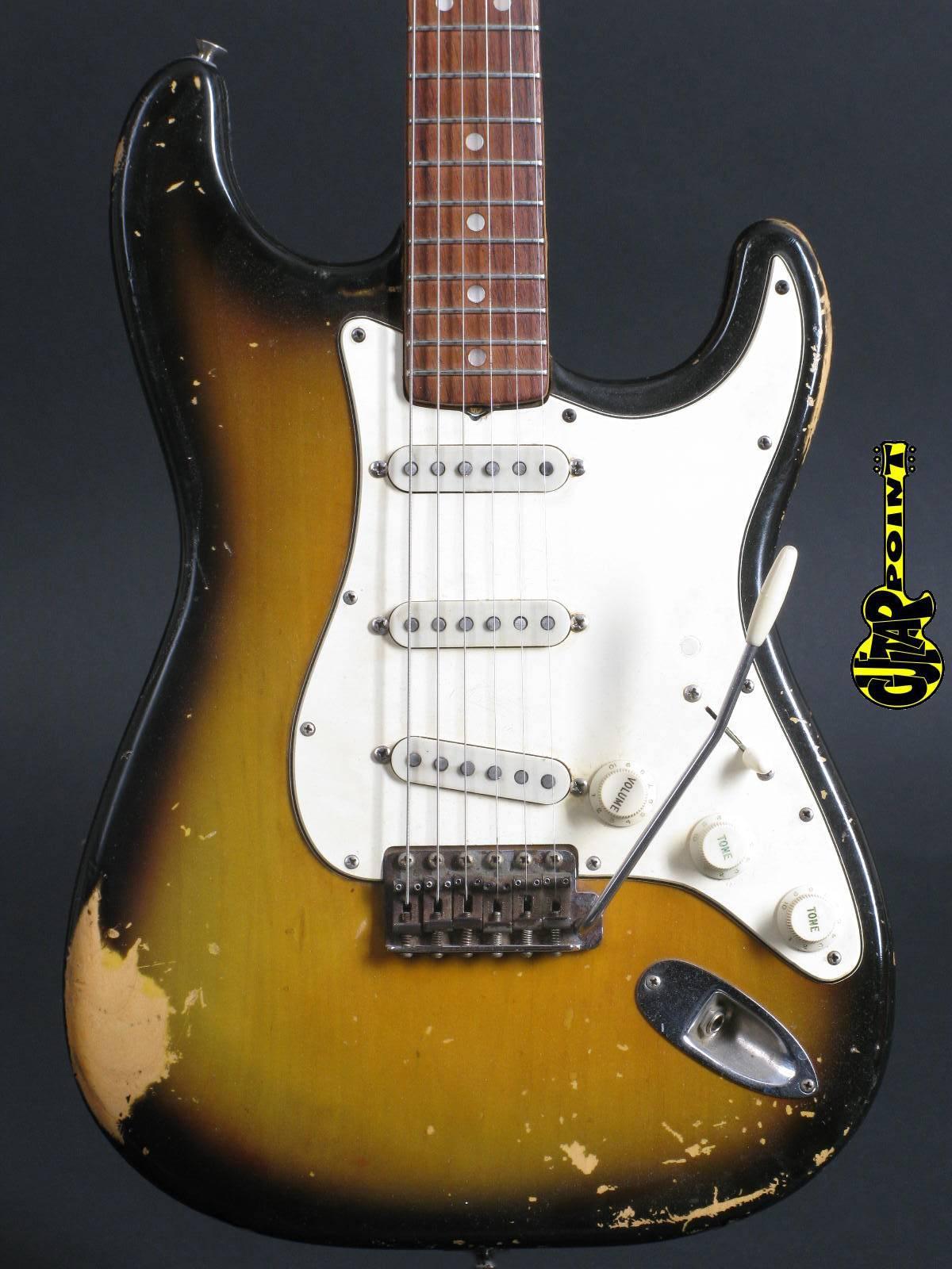 1968 Fender Stratocaster Sunburst - 3t Sunburst