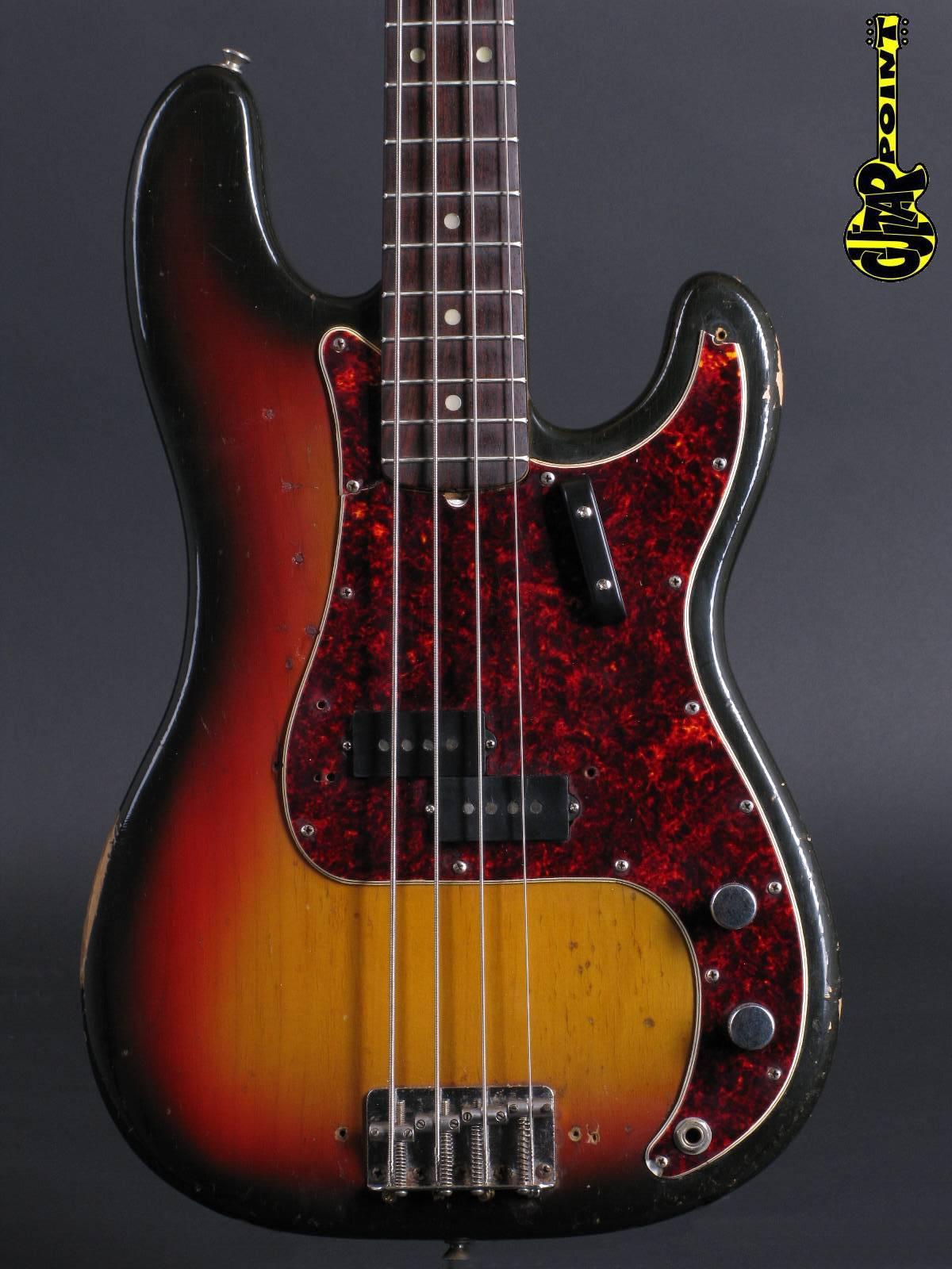 1971 Fender Precision Bass - 3-tone Sunburst
