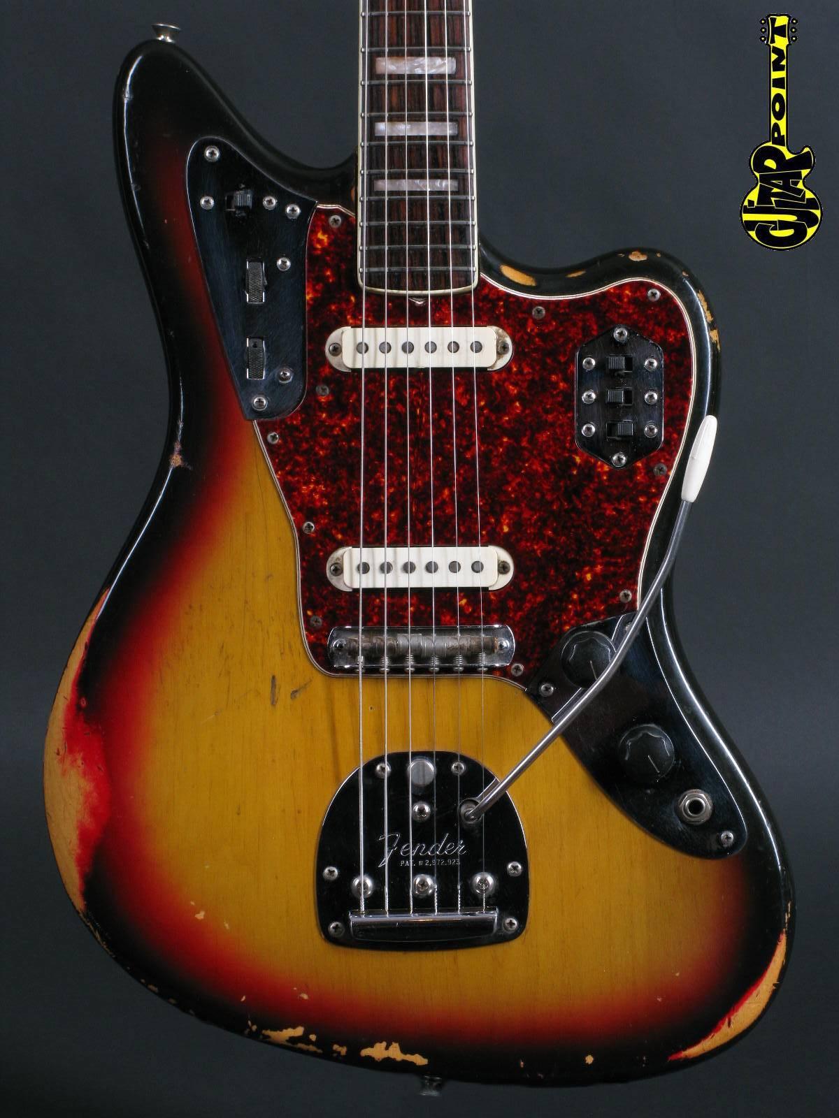1972 Fender Jaguar – 3-tone Sunburst