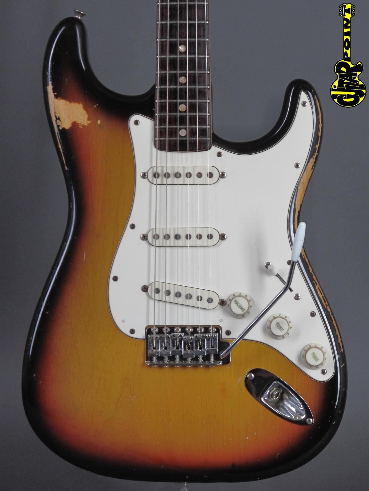 1972 Fender Stratocaster - 3-tone Sunburst  ...rare rosewood fretboard