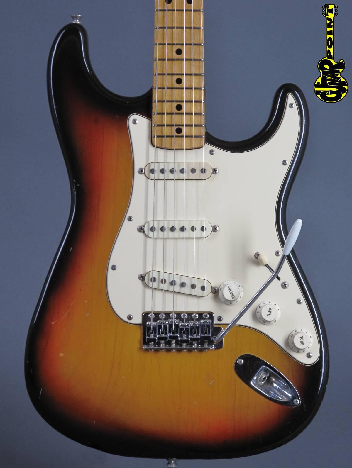 1973 Fender Stratocaster - 3t-Sunburst - lightweight = 3,2 Kg!