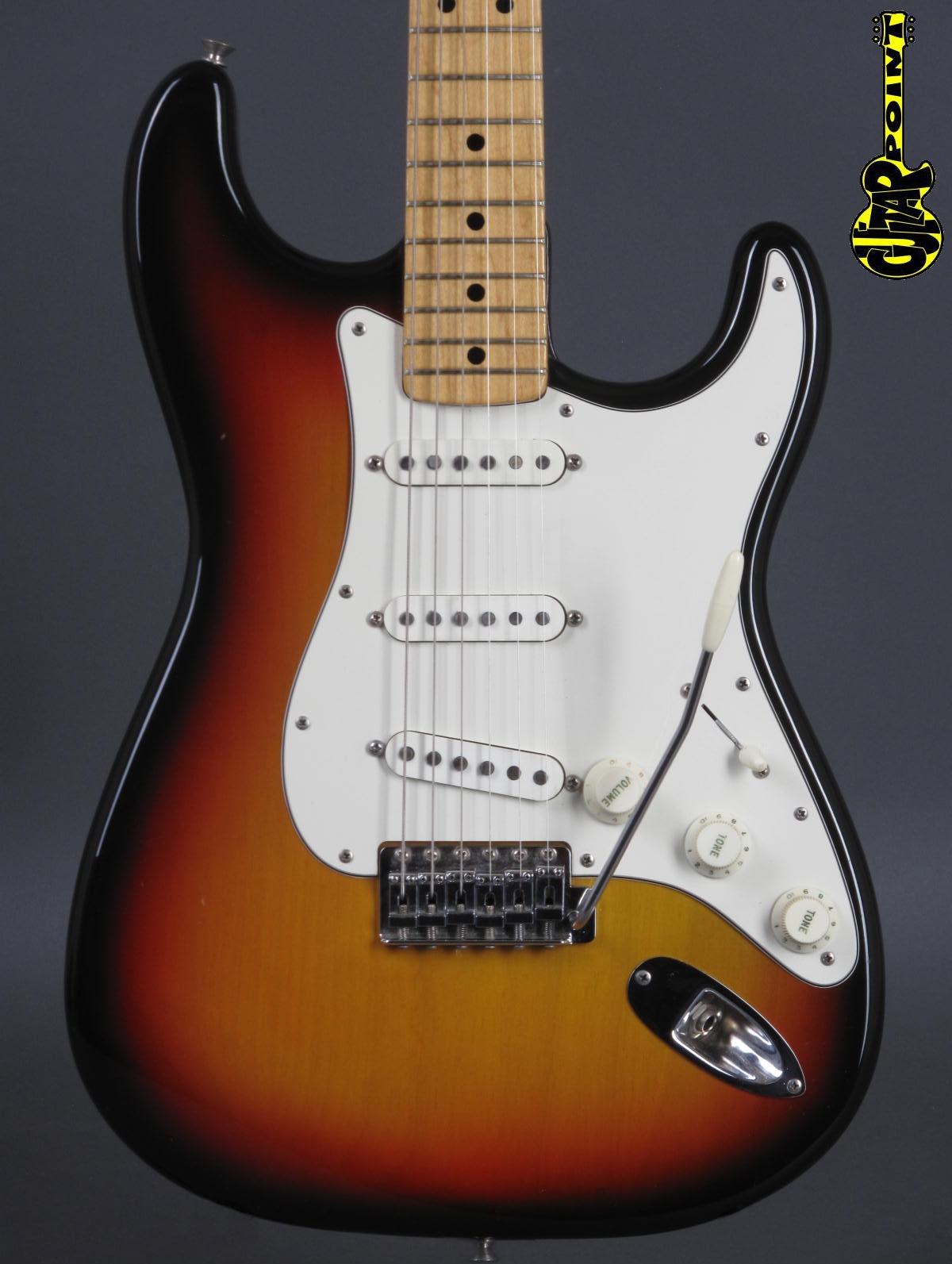 1973 Fender Stratocaster - 3t-Sunburst incl. blk Tolex case