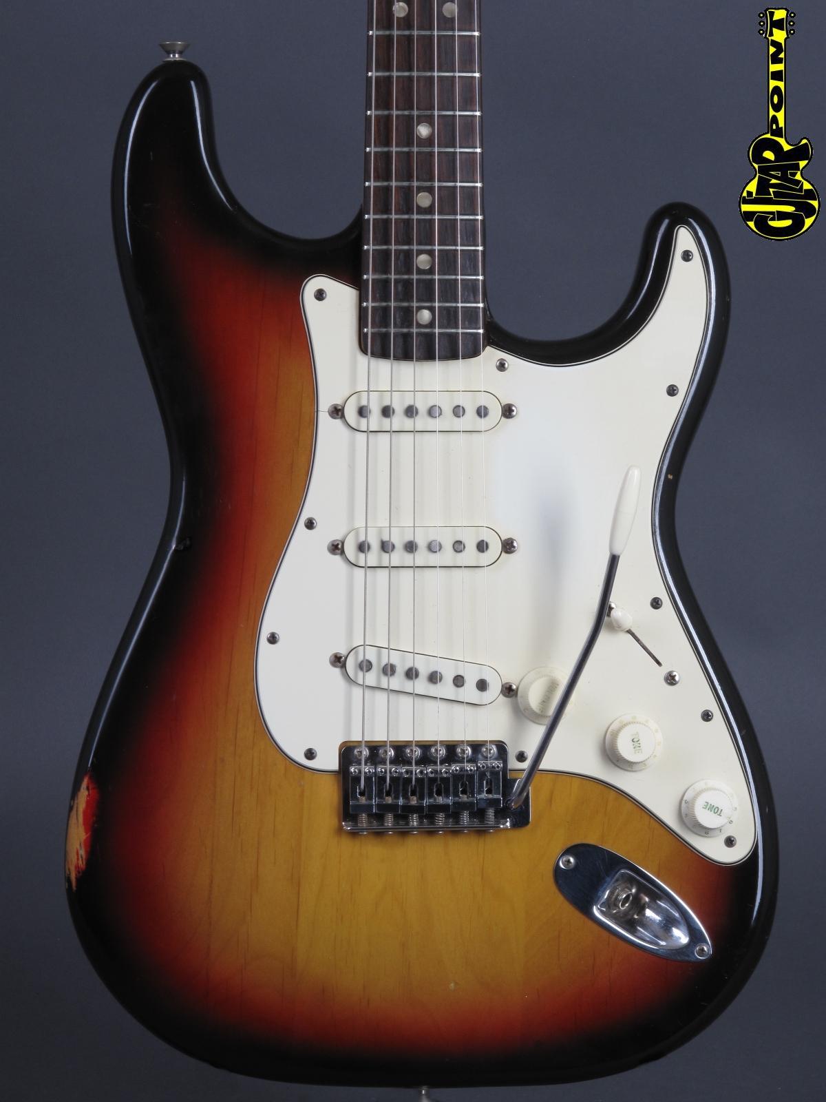 1973 Fender Stratocaster - 3t-Sunburst / Rosewood neck