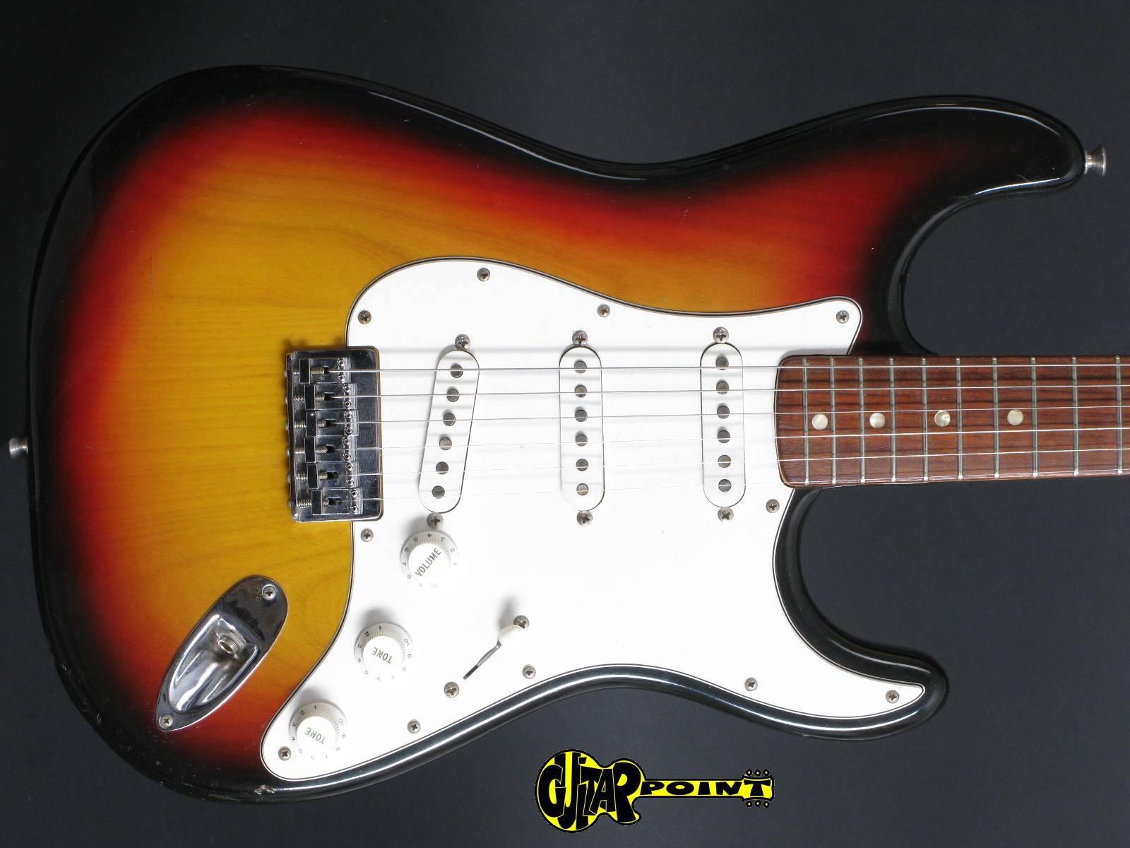 1973 Fender Stratocaster - Sunburst  (Hardtail)