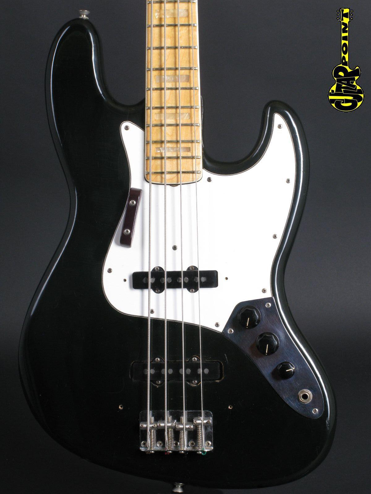 1974 Fender Jazz Bass - Black -  3,85Kg !!!