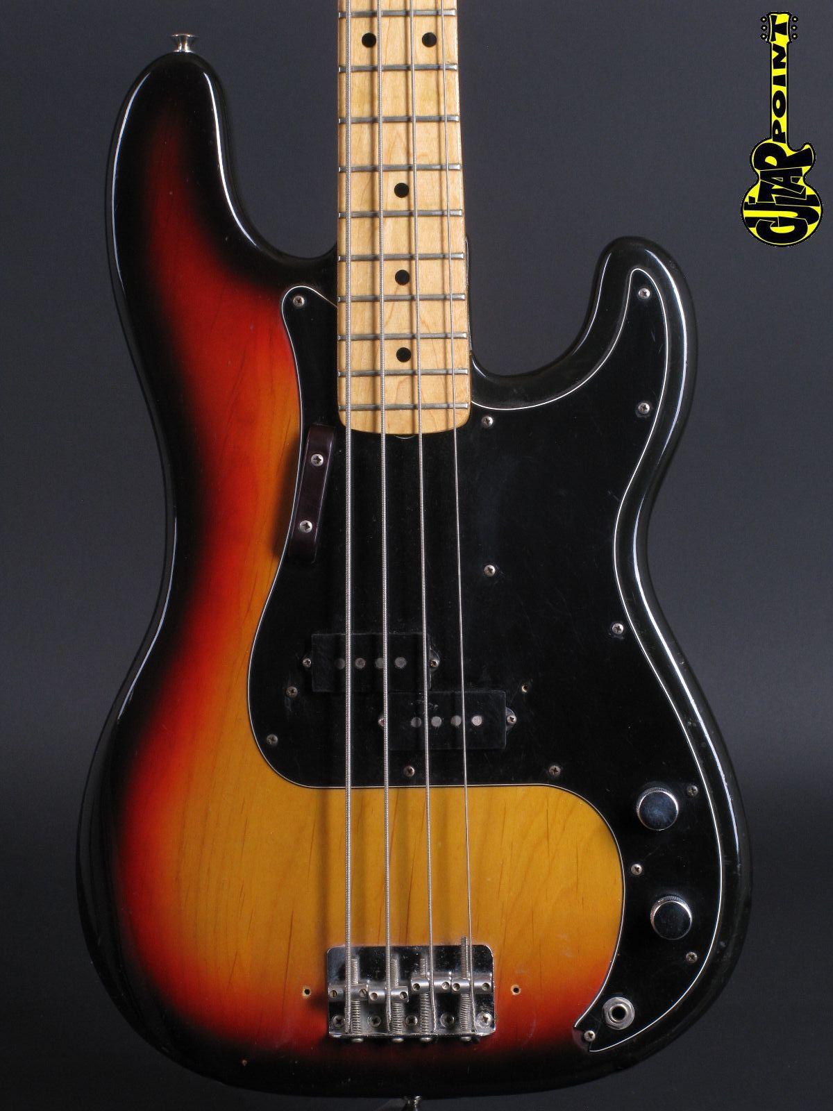 1973 Fender Precision Bass - 3-tone Sunburst