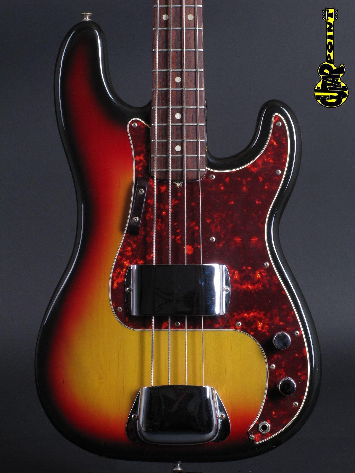 1974 Fender Precision Bass - 3-tone Sunburst