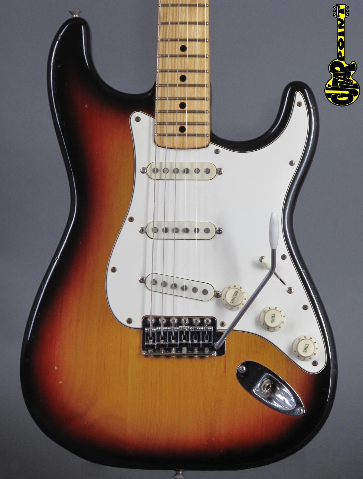 1974 Fender Stratocaster - 3t-Sunburst   ...only 3,2Kg!
