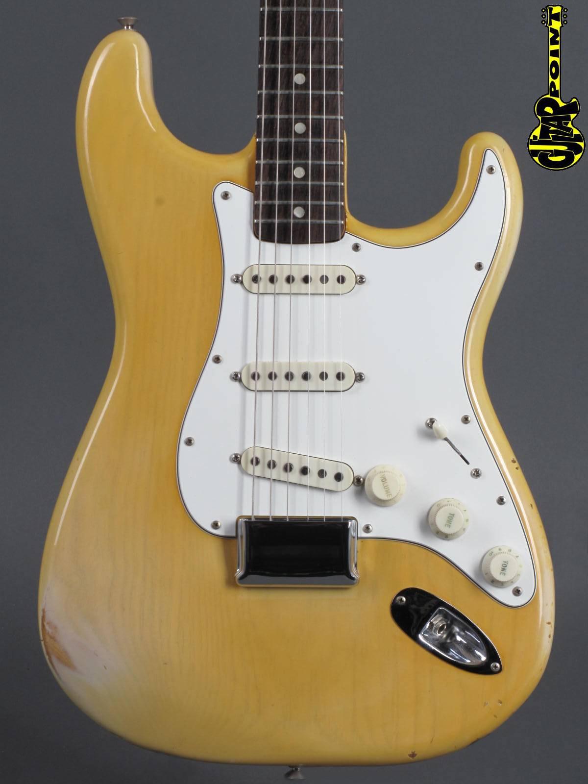 "1974 Fender Stratocaster - ...rare ""White Ash"" finish !"