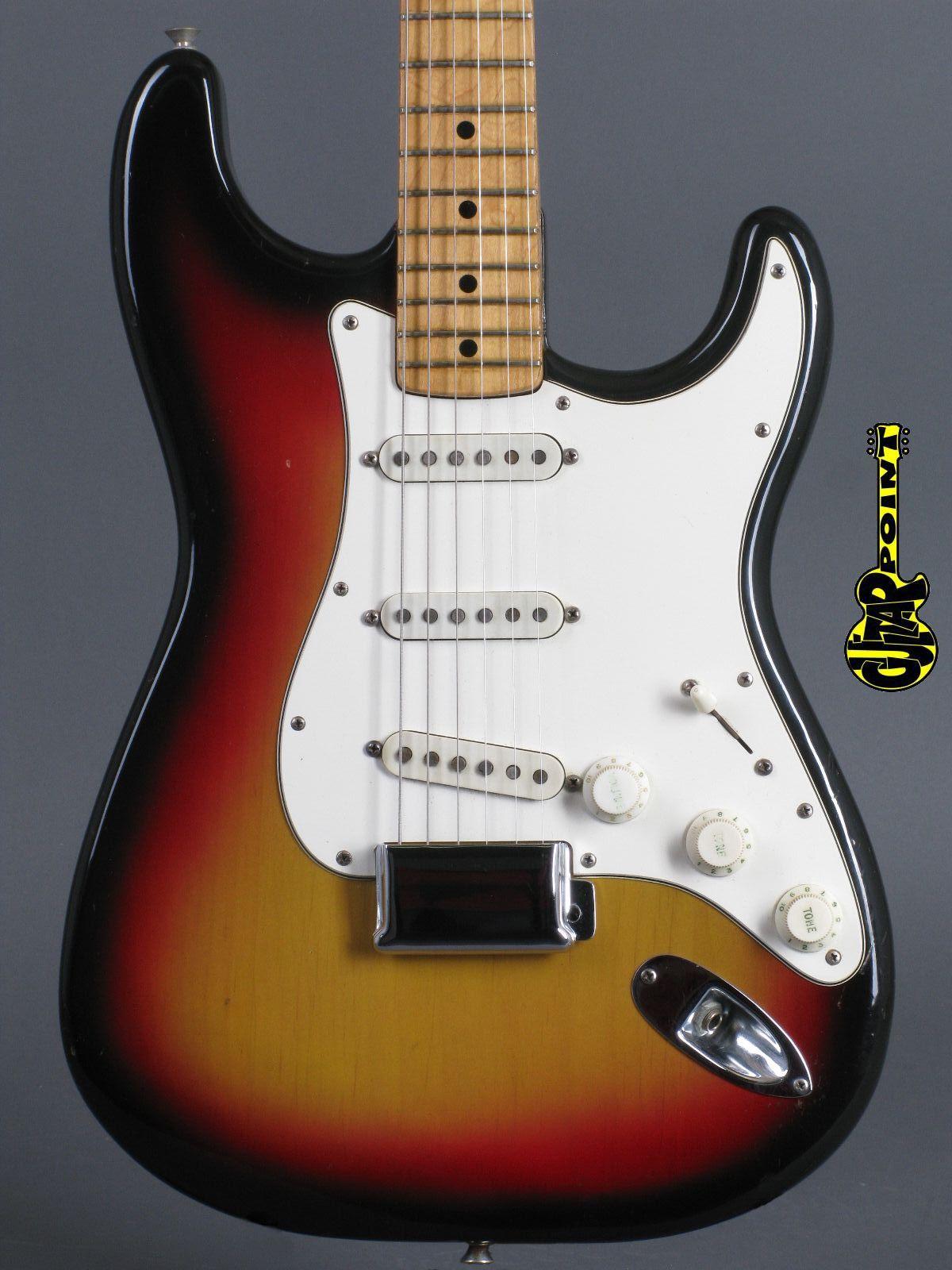 1974 Fender Stratocaster - 3t-Sunburst / Mapleneck
