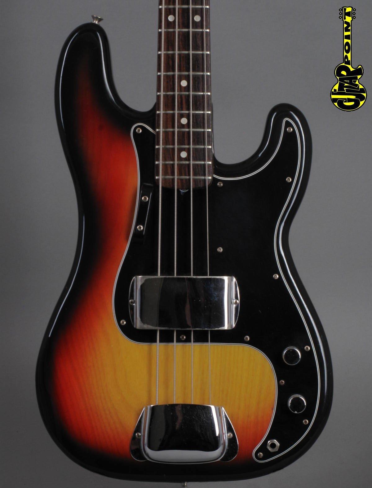 1976 Fender Precision Bass - 3-tone Sunburst