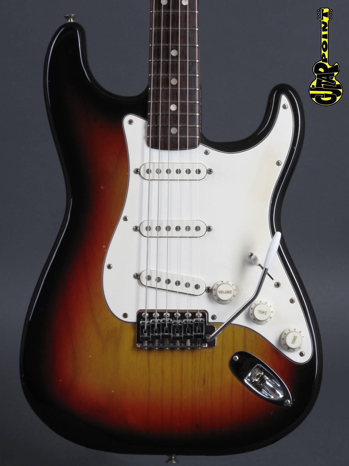 1976 Fender Stratocaster - 3t-Sunburst / Rosewood neck