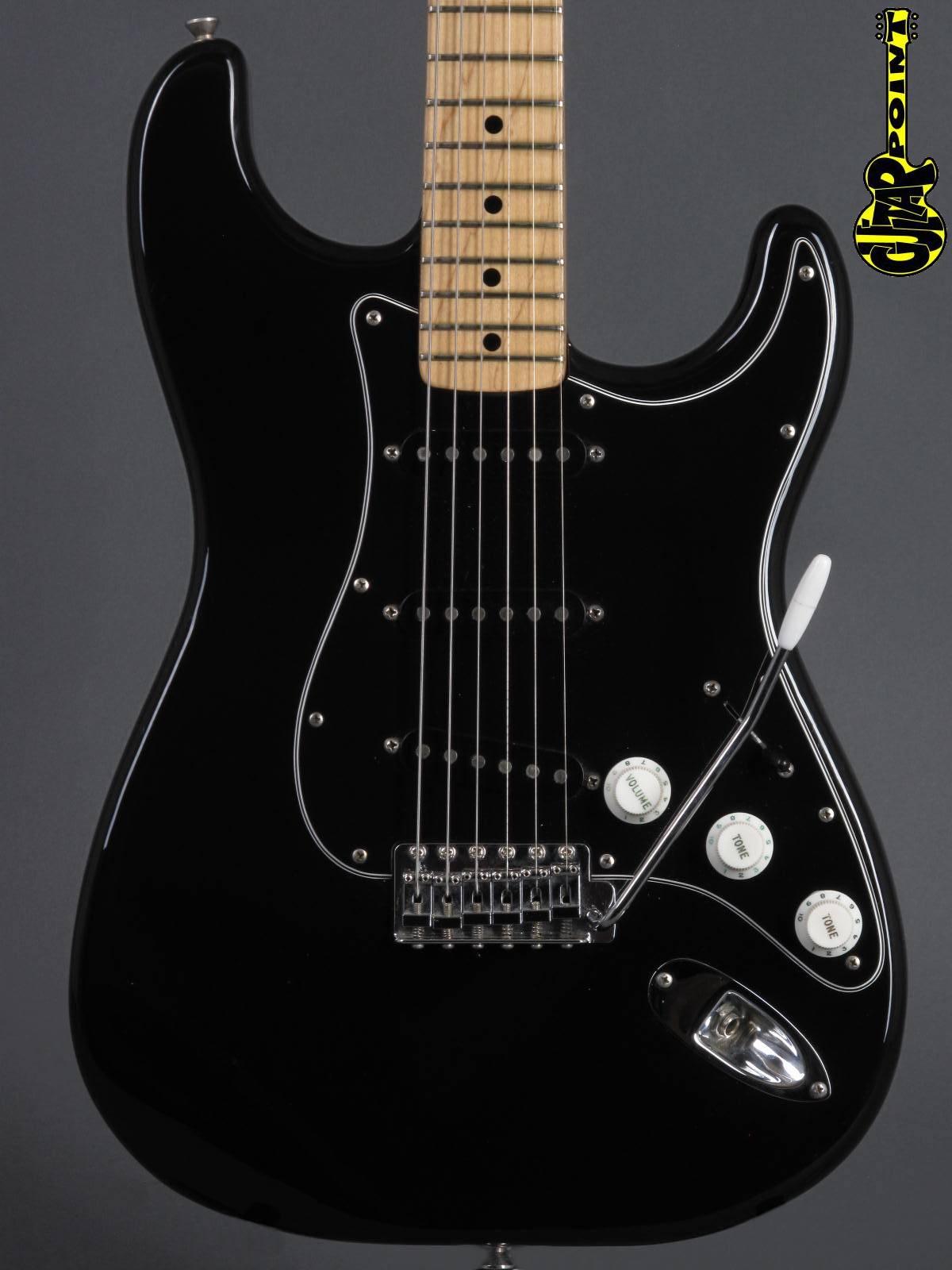 1976 Fender Stratocaster - Black / Mapleneck incl. orig. Fender Tolex case