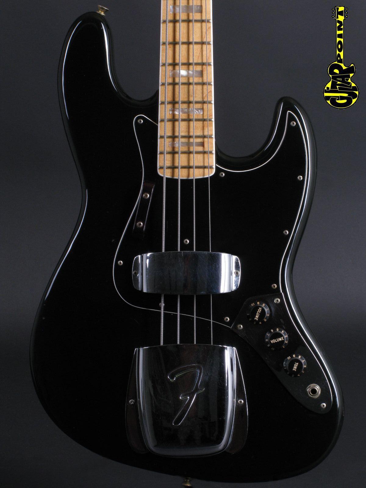 1977 Fender Jazz Bass - Black