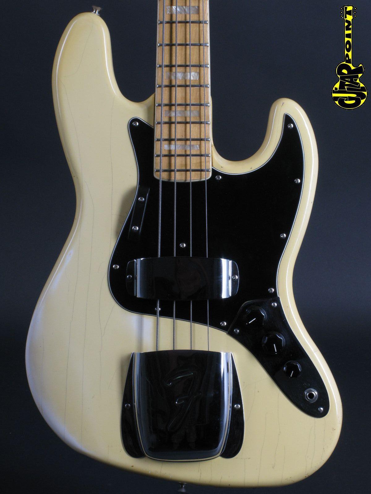 1977 Fender Jazz Bass - Olympic White