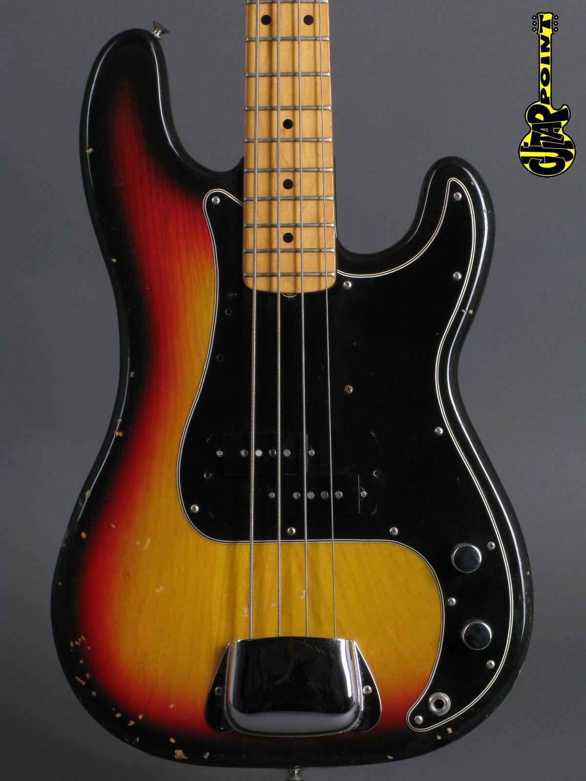 1977 Fender Precision Bass - 3-tone Sunburst