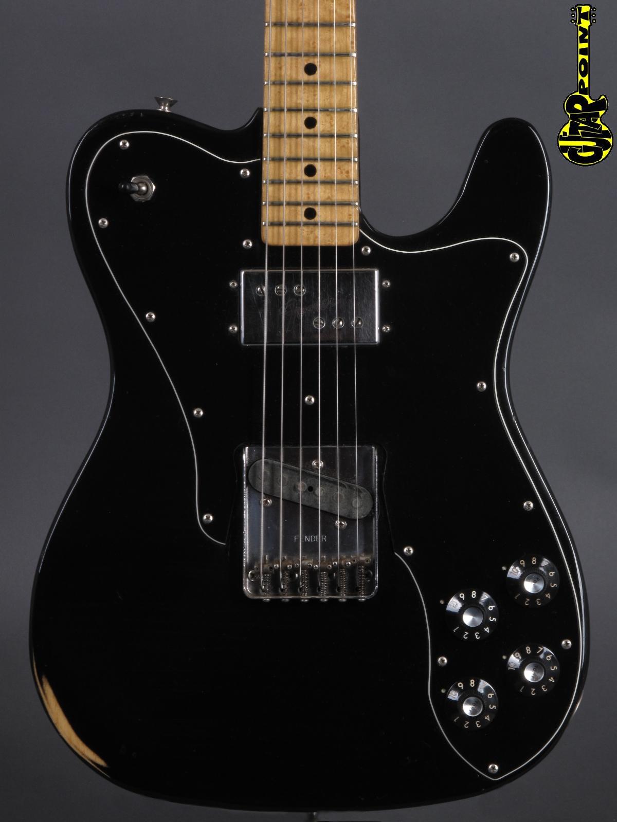 1977 Fender Telecaster Custom - Black  ...Birdseye neck !!!