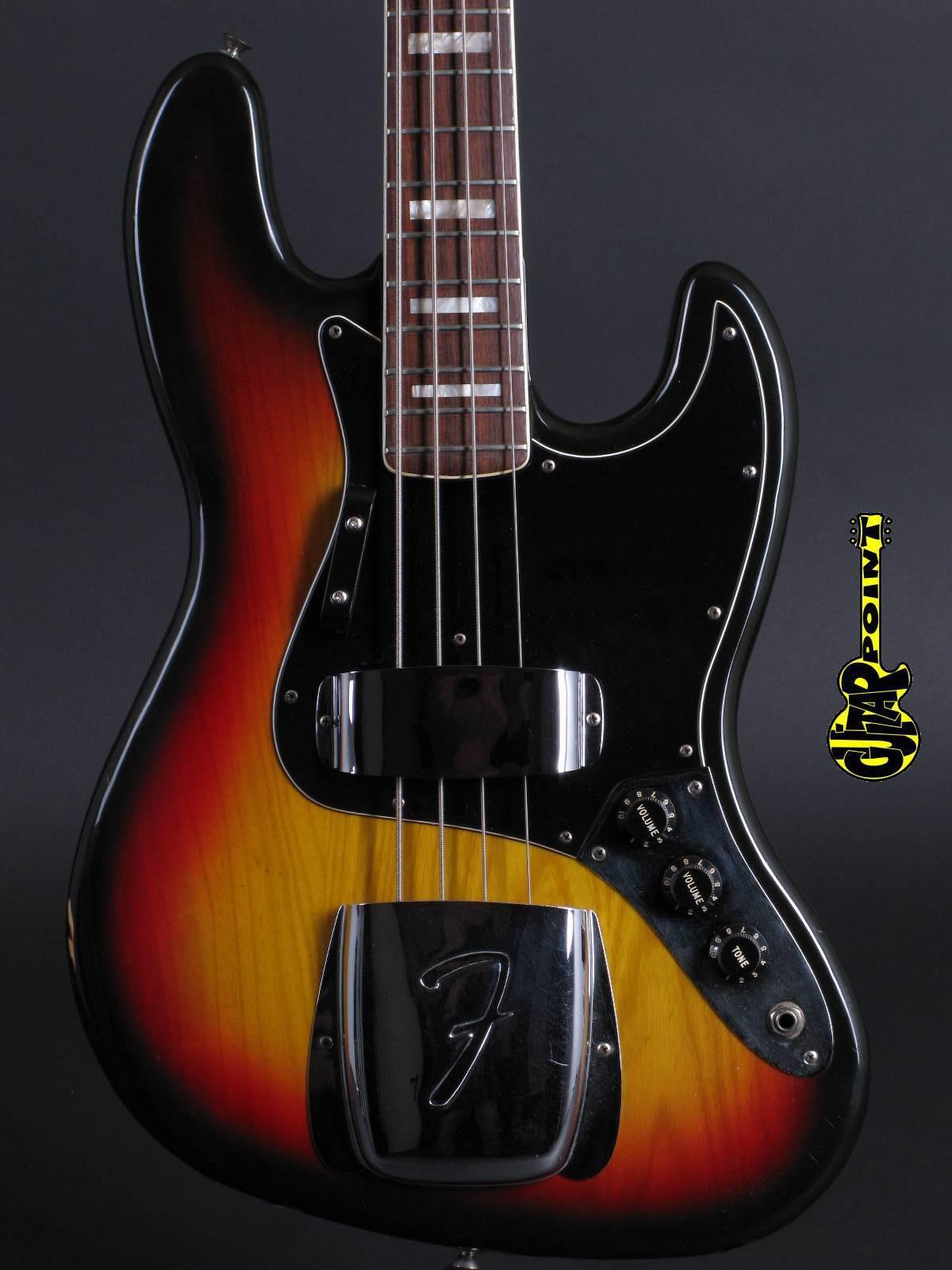 1978 Fender Jazz Bass 3-Tone Sunburst