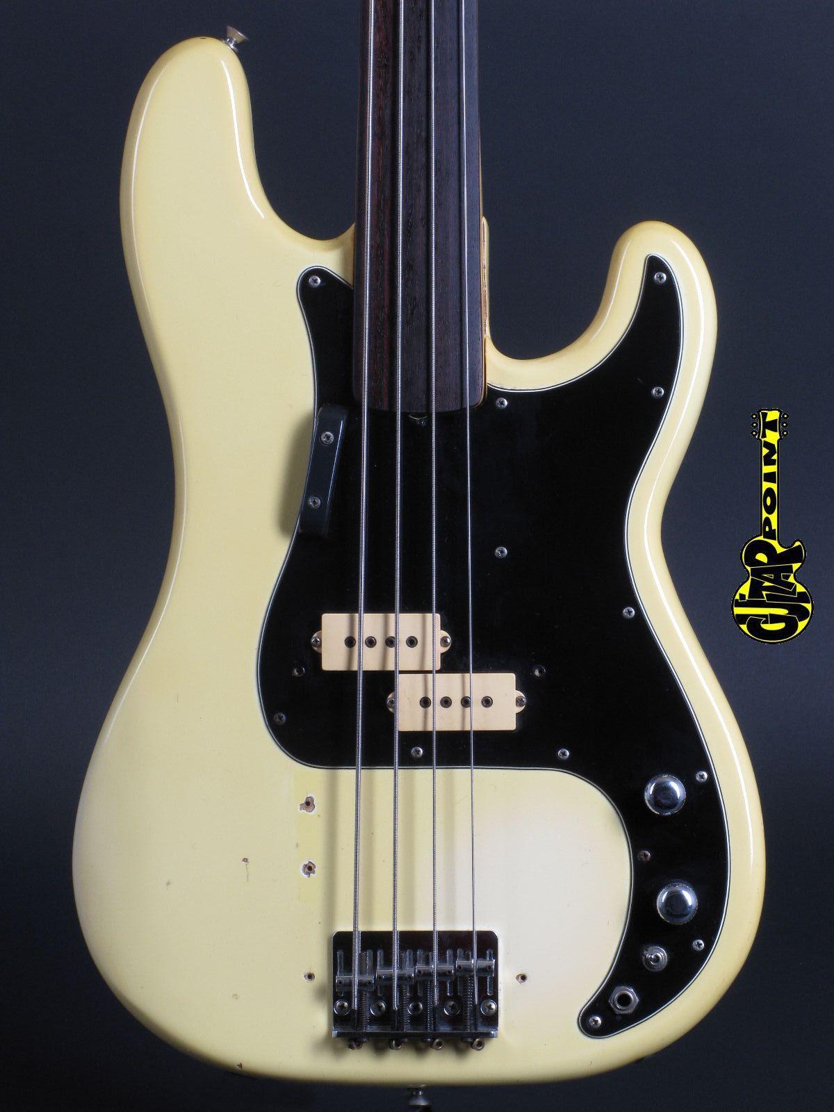 1978 Fender Precision Bass / Fretless - Olympic White