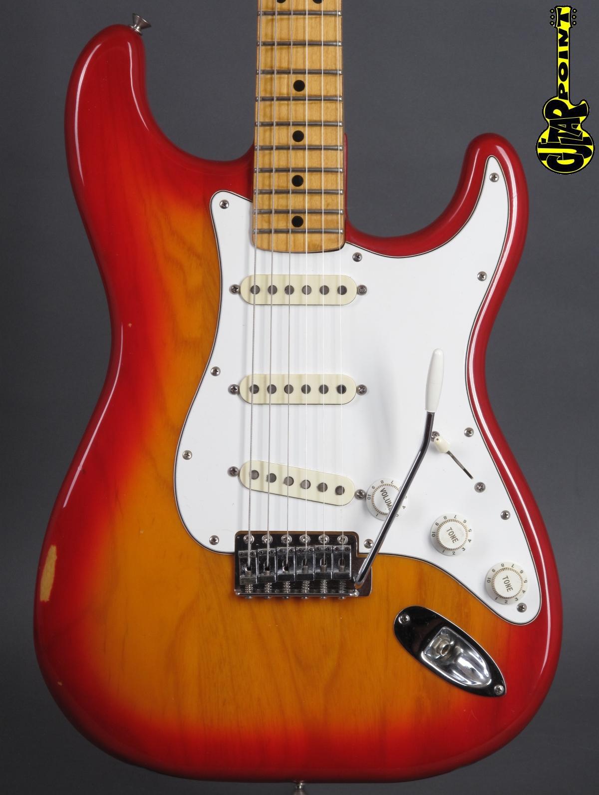 1981 Fender Stratocaster - Cherry Sunburst - Internional Color Series!