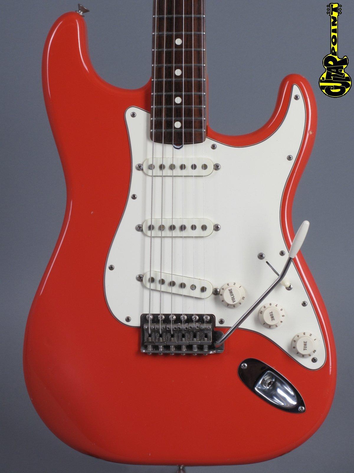 "1982 Fender American Vintage '62 ""Fullerton"" Reissue Stratocaster - Fiesta Red"