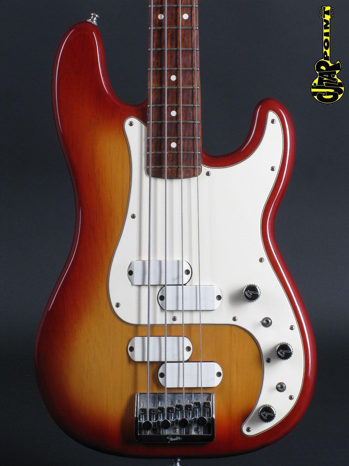 1983 Fender Precision Elite II Bass - Sienna Burst