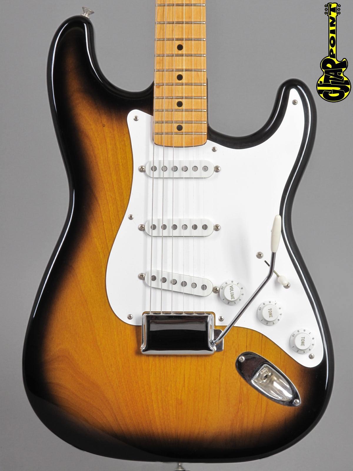 1987 Fender American Vintage '57 Reissue Stratocaster - 2-tone Sunburst + Case Candy !