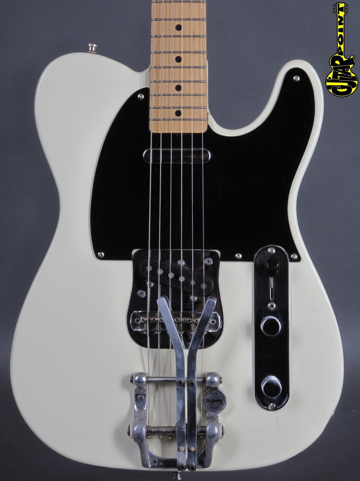 1989 Fender Telecaster - White / Bigsby Palm Bender