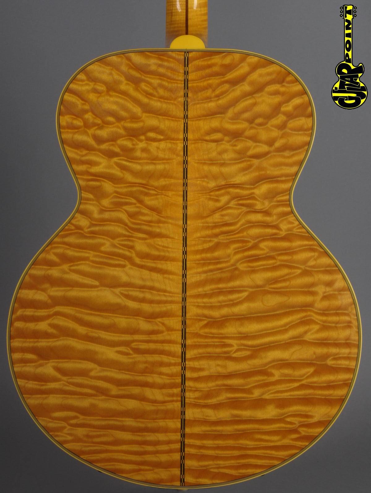 """2001 Gibson J-200 Montana Gold - """"Custom Built"""" Quilt!"""
