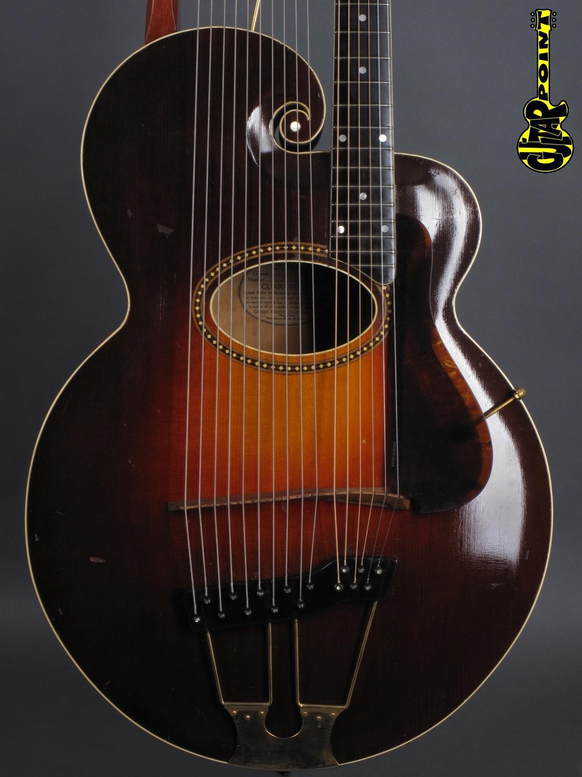 1919 Gibson Style-U Harp Guitar  w/gold hardware ...wow !!!