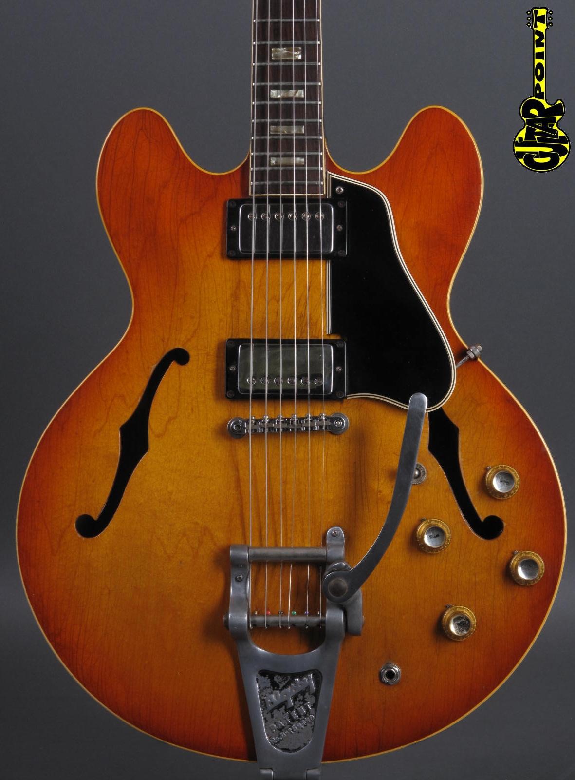 1965 Gibson ES-335 Icetea Sunburst / Bigsby