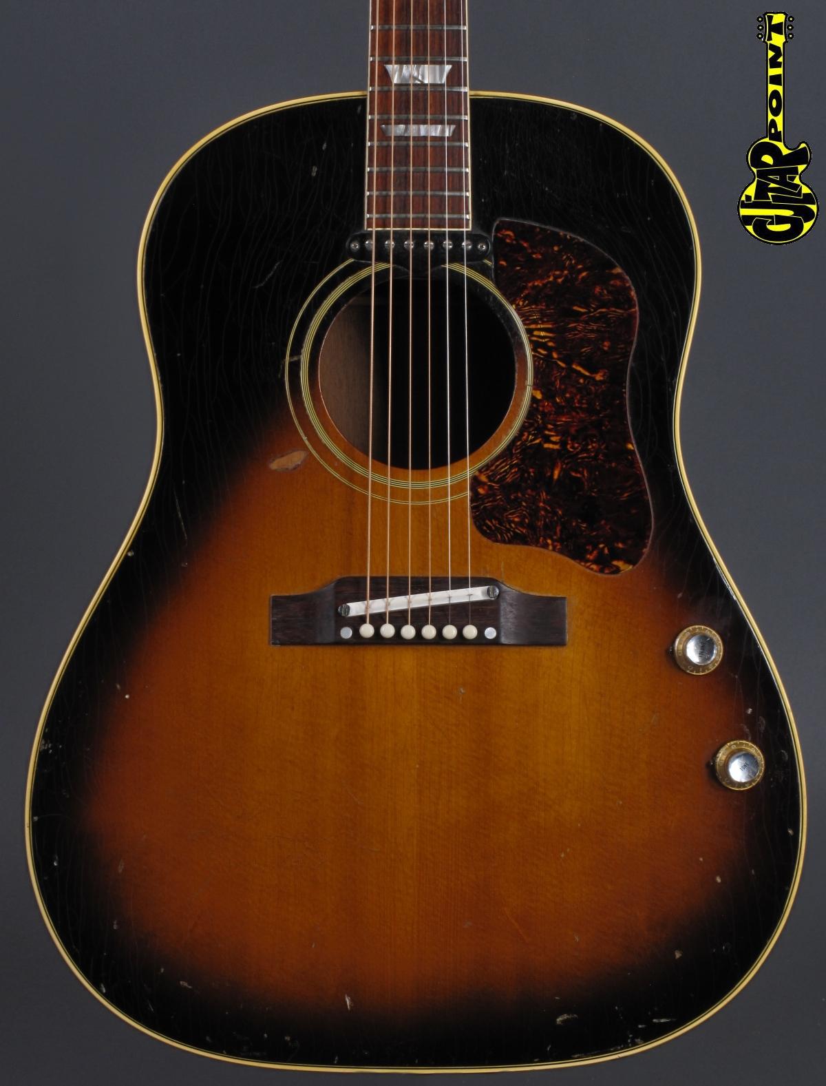 1966 Gibson J-160E - Sunburst