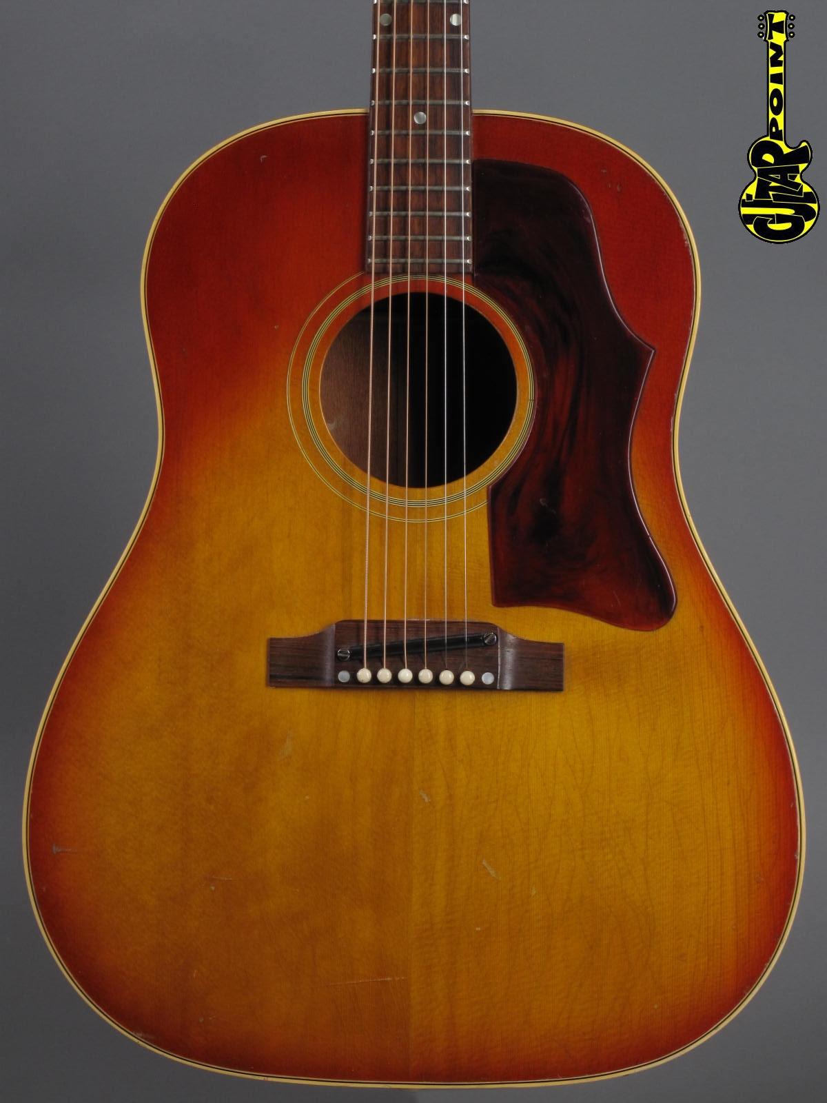 1966 Gibson J-45 - Cherry Sunburst