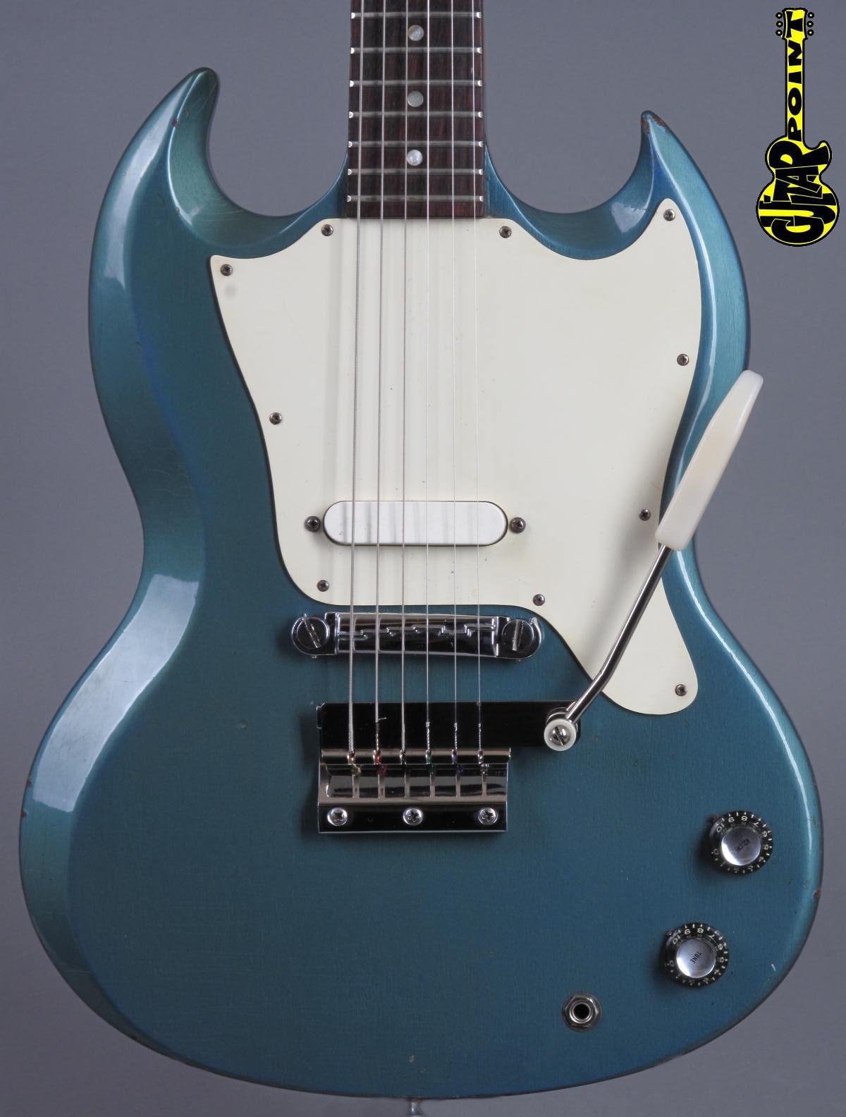 1968 Gibson SG Melody Maker - Pelham Blue Metallic