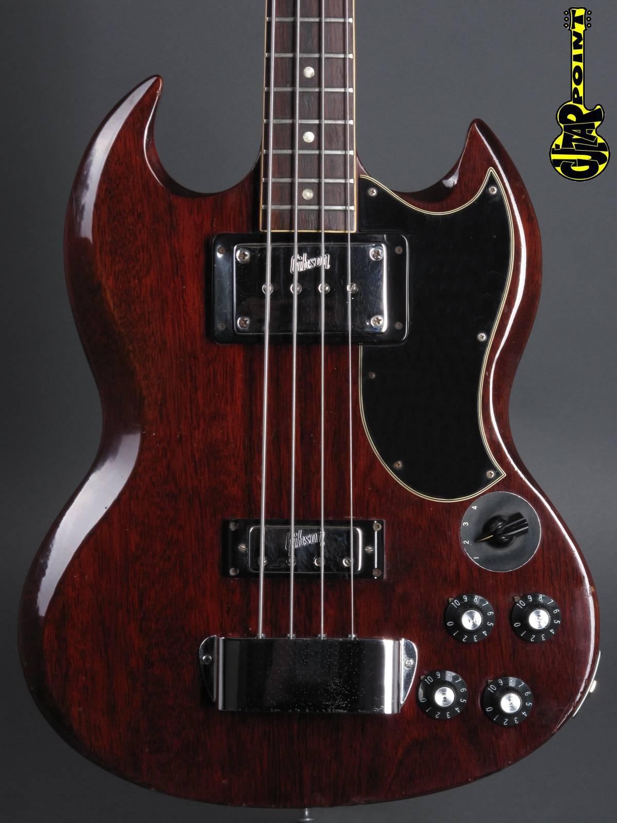 1972 Gibson EB-3 Bass - Cherry (open headstock!)