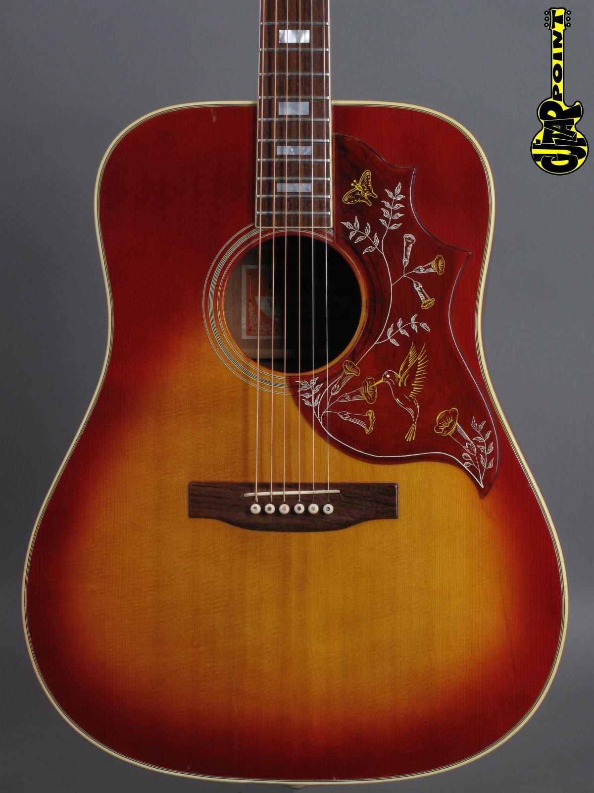 1972 Gibson Hummingbird Custom - Cherry Sunburst