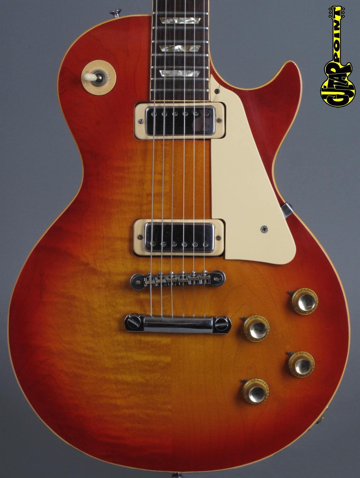1974 Gibson Les Paul Deluxe - Cherry Sunburst / 2-piece top, flames + lightweight !