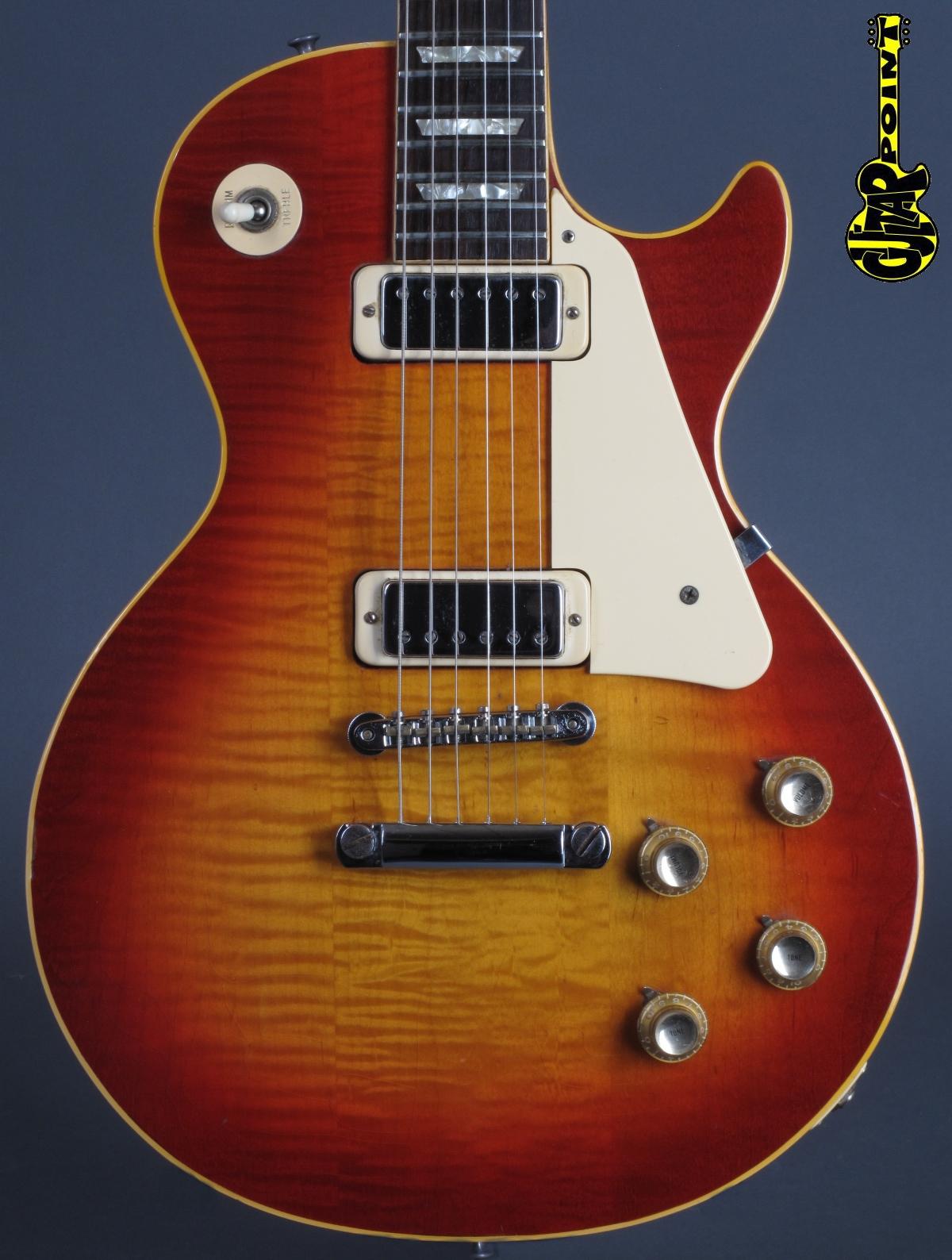 1973 Gibson Les Paul Deluxe - Cherry Sunburst  ...highly flamed !!!