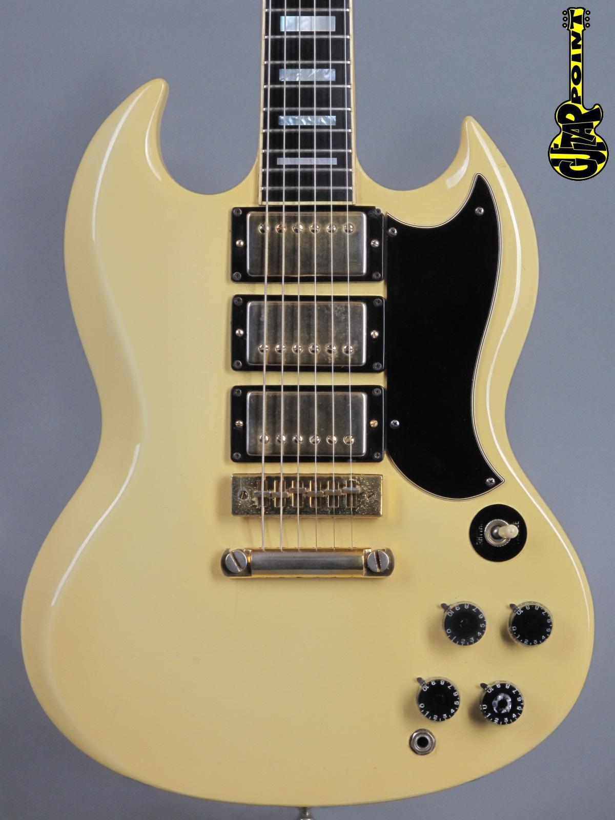 1974 Gibson SG Custom - White   w/rare Artist case!