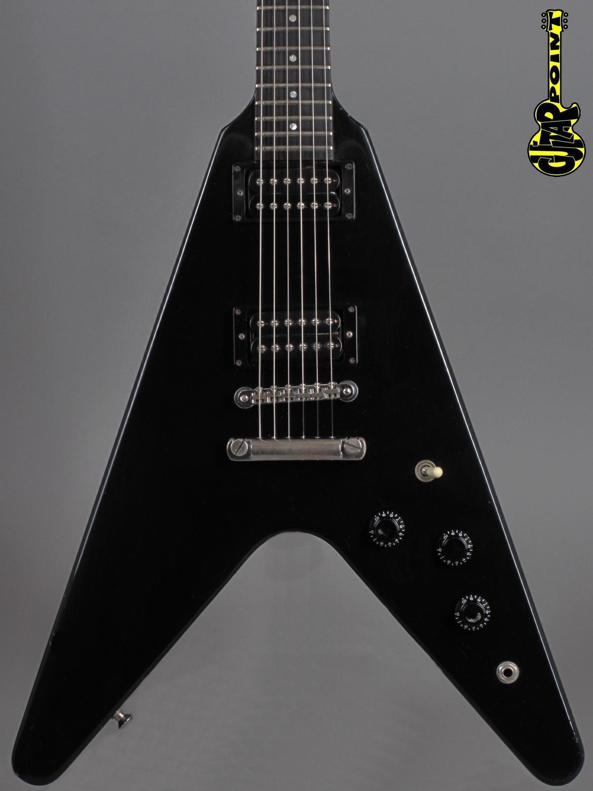 "1984 Gibson Flying V  -  Ebony    ...2x ""Dirty Fingers"" !!!"