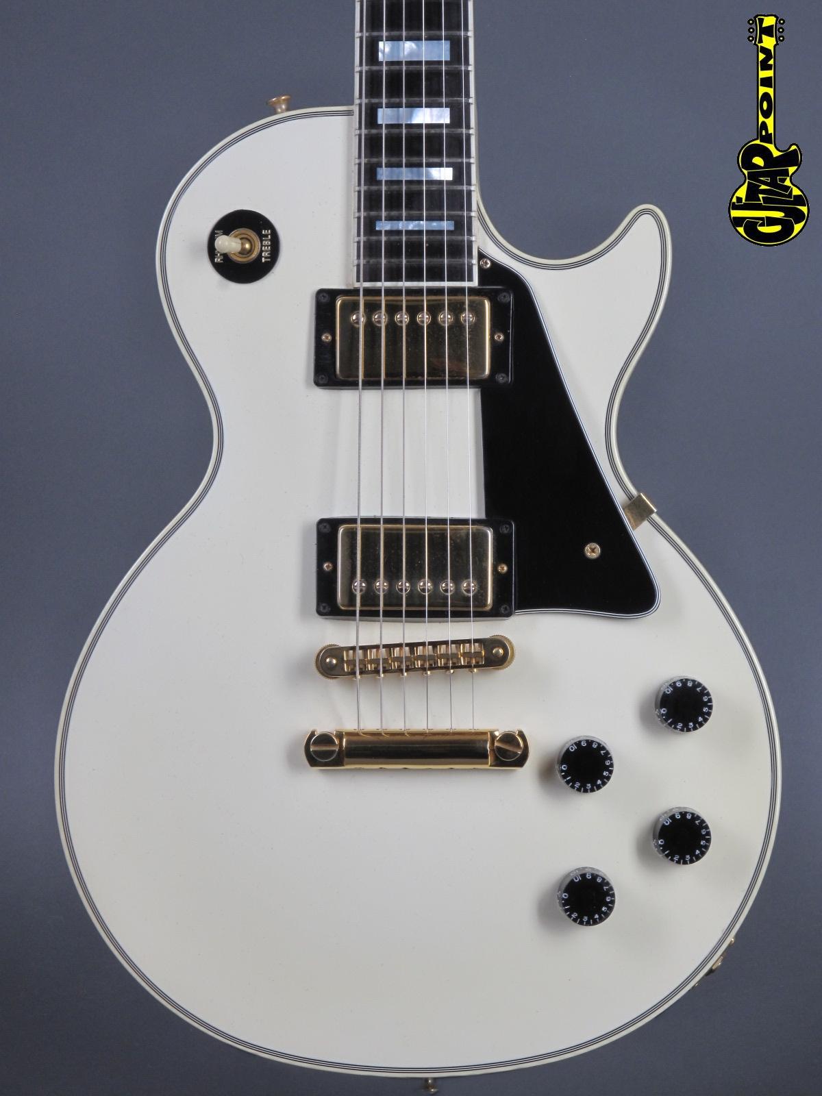 1987 Gibson Les Paul Custom - White   ...mint !