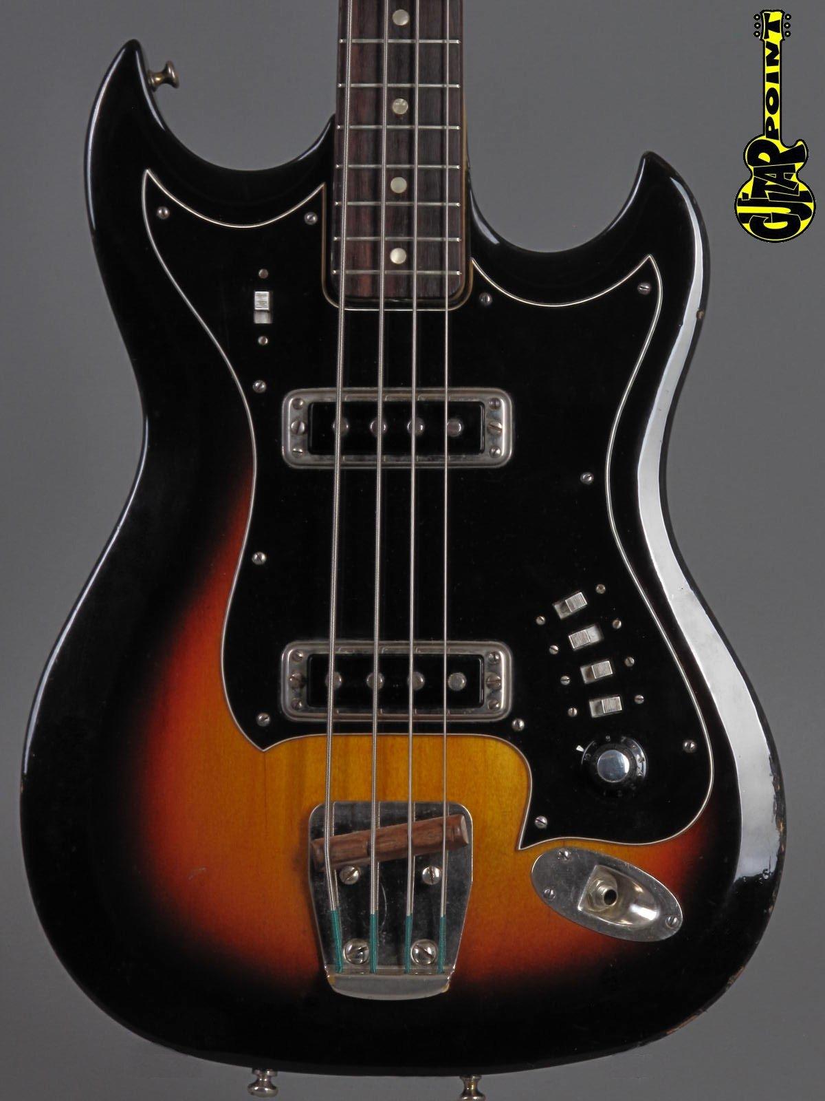 1967 Hagstrom H2B - 4-String Bass - Sunburst